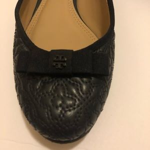 fc5112f20361 Tory Burch Shoes - Tory Burch 7.5 Navy Bryant Quilted Ballet Flats